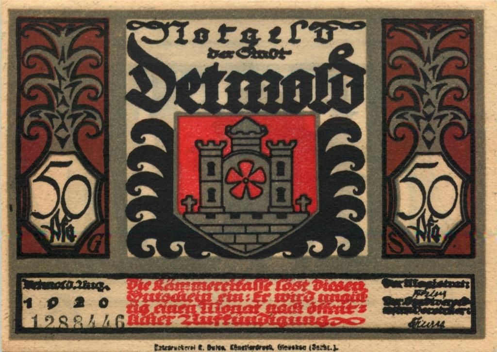 50 пфеннигов (нотгельд) 1920 года (Германия)
