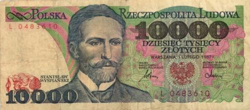 10000 злотых 1987 года (Польша)