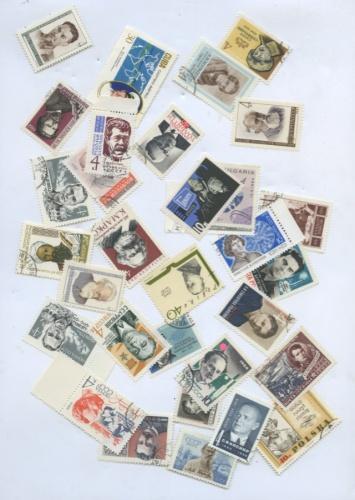 Набор почтовых марок (разные страны, вконверте СССР)
