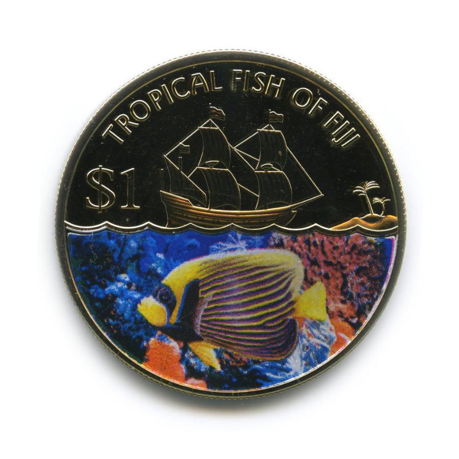 1 доллар - Тропические рыбки Фиджи (цветная эмаль) 2009 года (Фиджи)