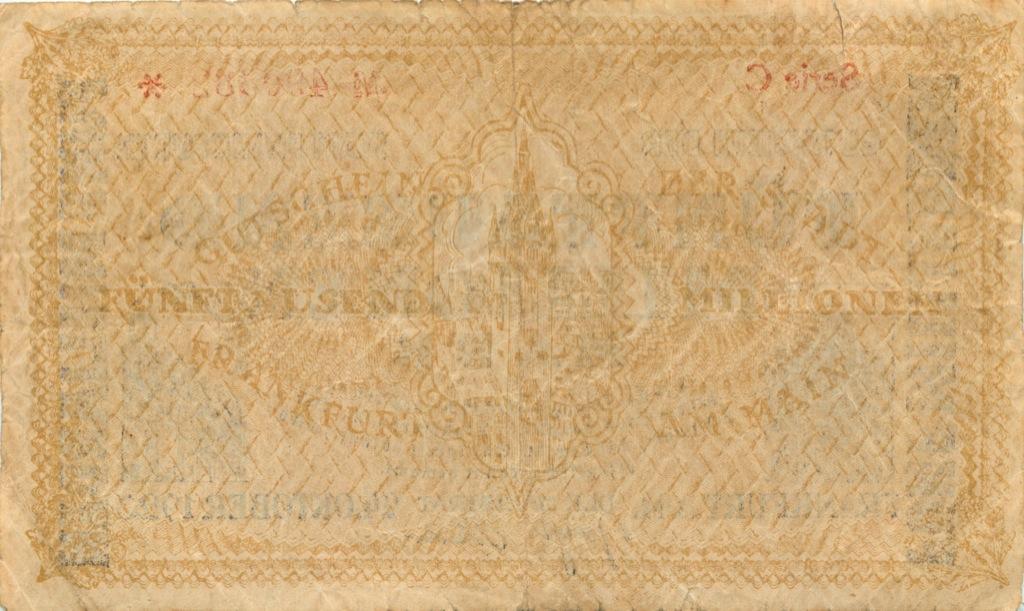 5 миллионов марок (Франкфурт) 1923 года (Германия)