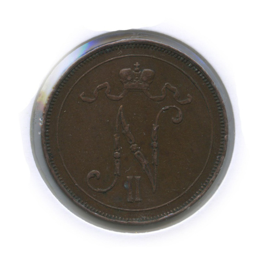 10 пенни (в холдере) 1914 года (Российская Империя)