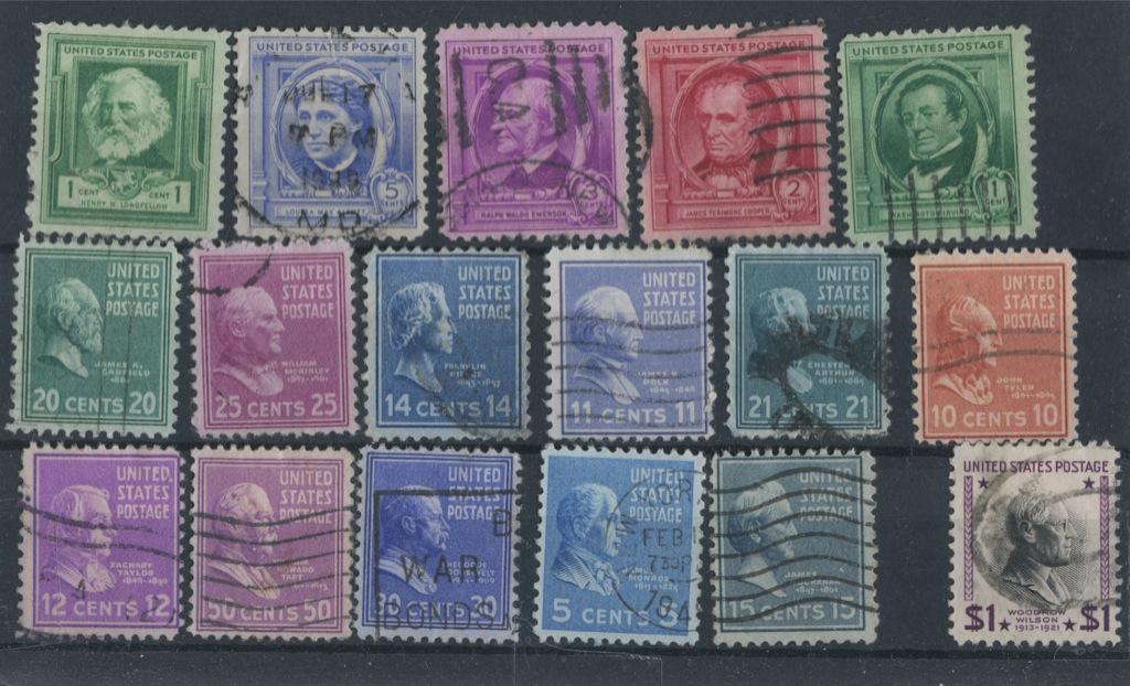 Набор почтовых марок 1939, 1940 (США)