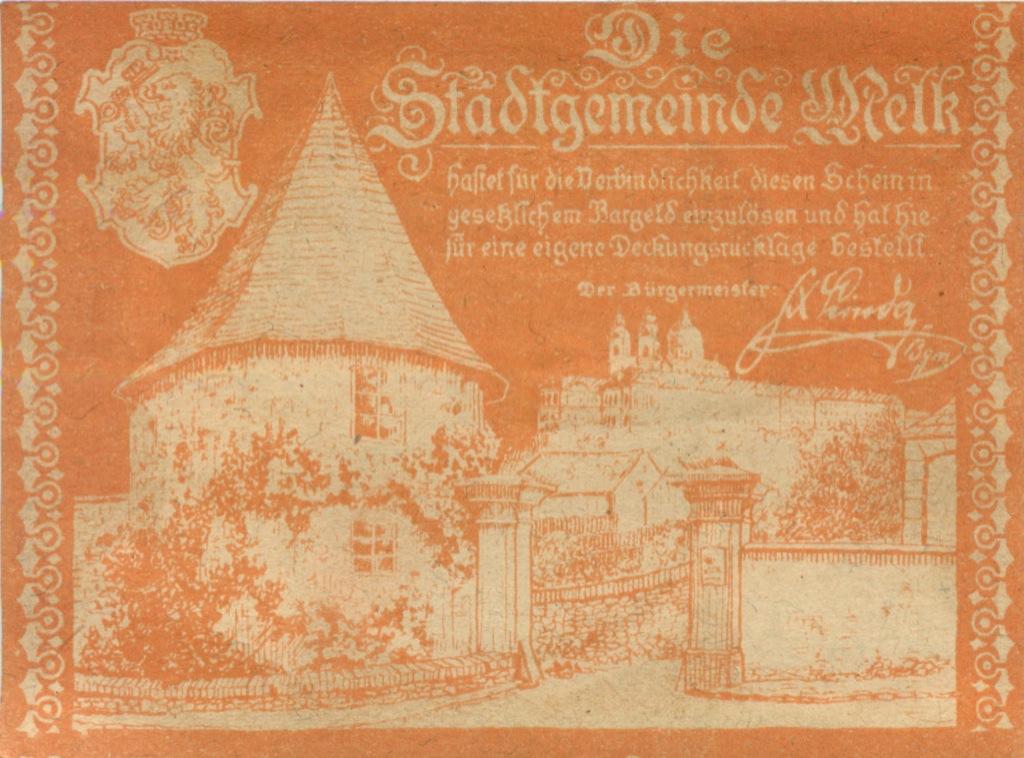 50 геллеров (нотгельд) 1920 года (Австрия)