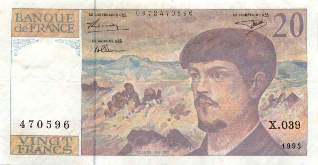 20 франков 1993 года (Бельгия)