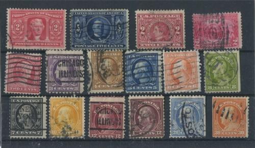 Набор почтовых марок 1904-1907 (США)