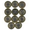 Набор монет 10 рублей — Российская Федерация - Области 2014, 2016 (Россия)