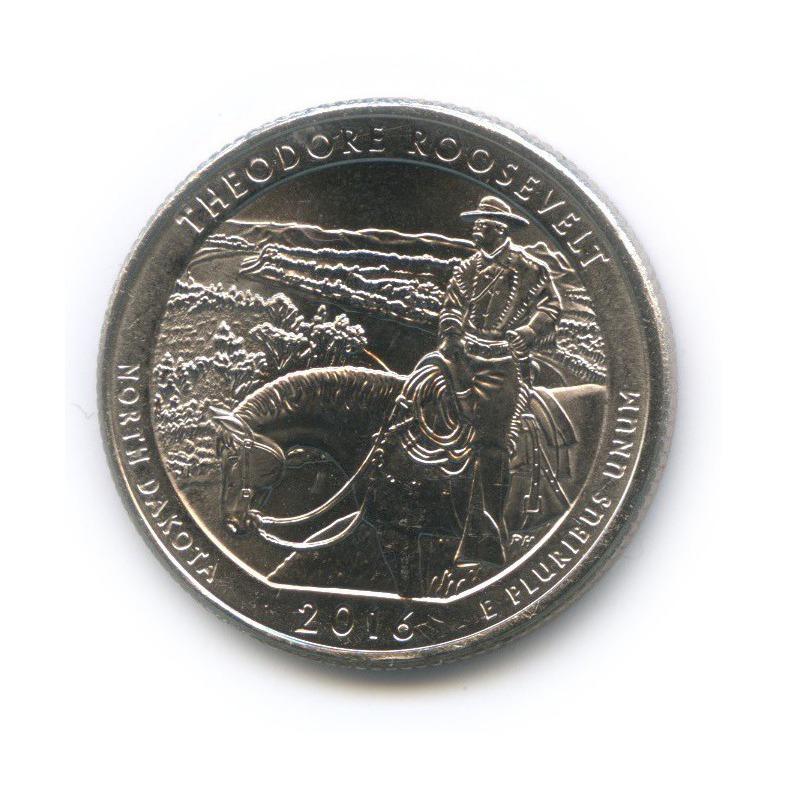 25 центов (квотер) - Национальные парки США - Парк Теодор-Рузвельт 2016 года Р (США)