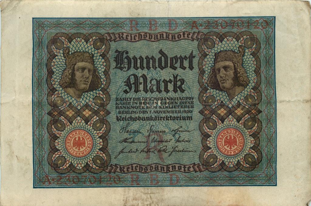 100 марок 1920 года (Германия)