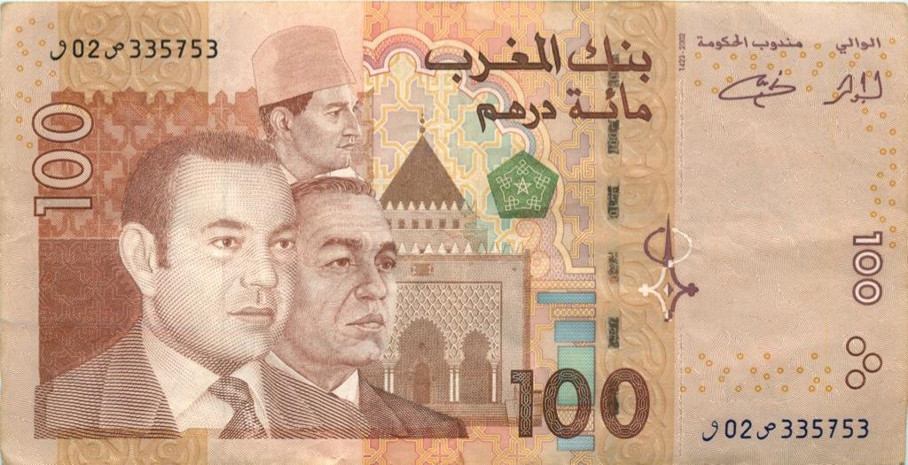100 дихрам 2002 года (Марокко)