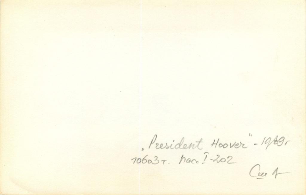Фотография «President Hoover»