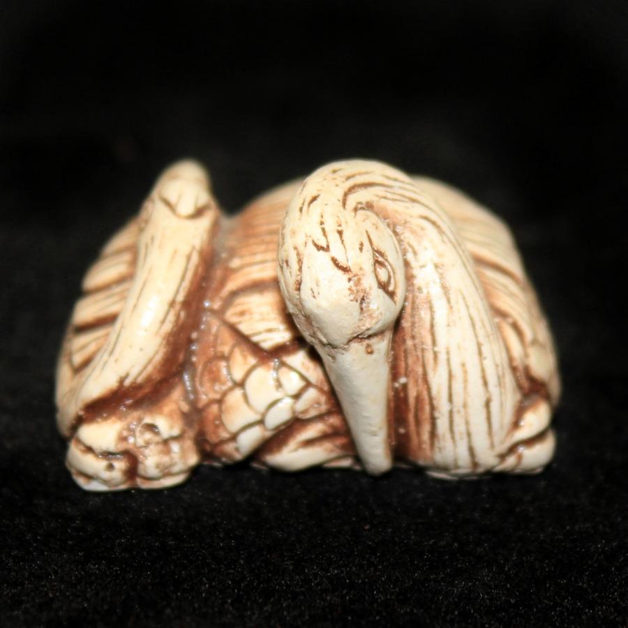 Фигурка-нэцкэ «Птицы» (2×3,5 см)