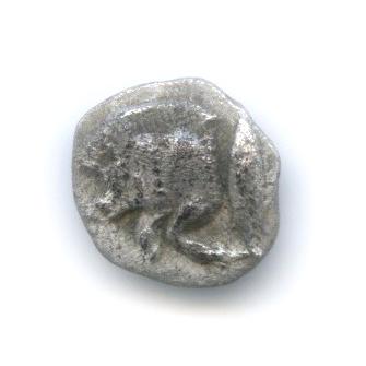 Гемиобол - Мизия, Кизик, 480-400 гг. до н. э., лев/кабан