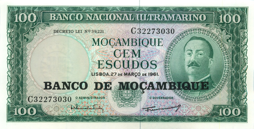 100 эскудо (Мозамбик) 1961 года