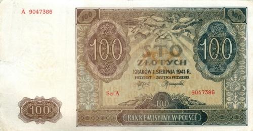 100 злотых 1941 года (Польша)