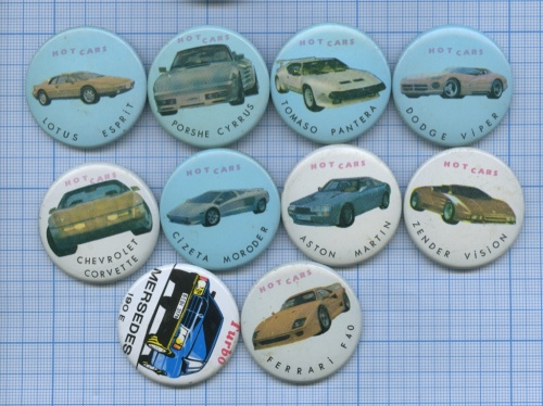 Набор значков «Hot cars»