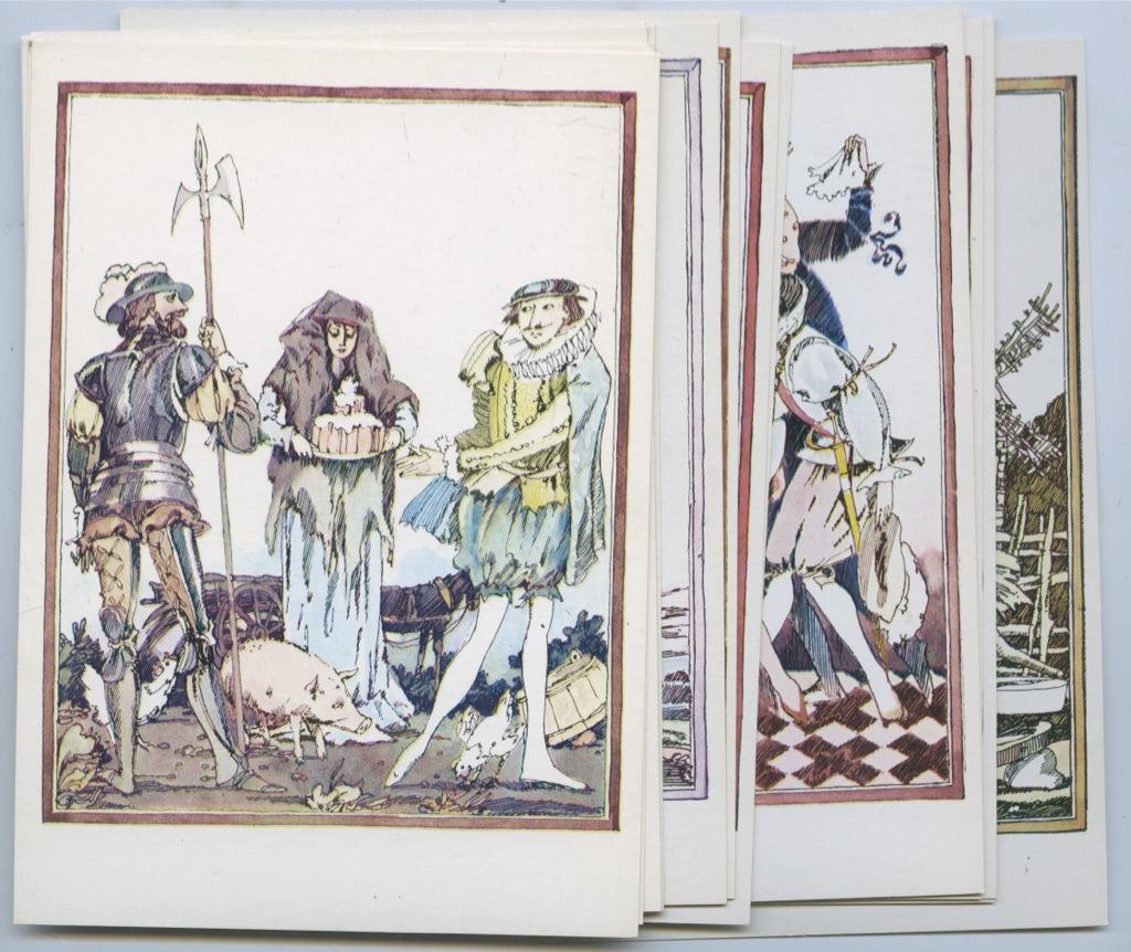 Львица открытки, набор открыток иллюстрации к сказкам