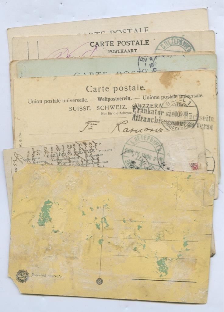 Набор почтовых карточек (7 шт., разные страны)