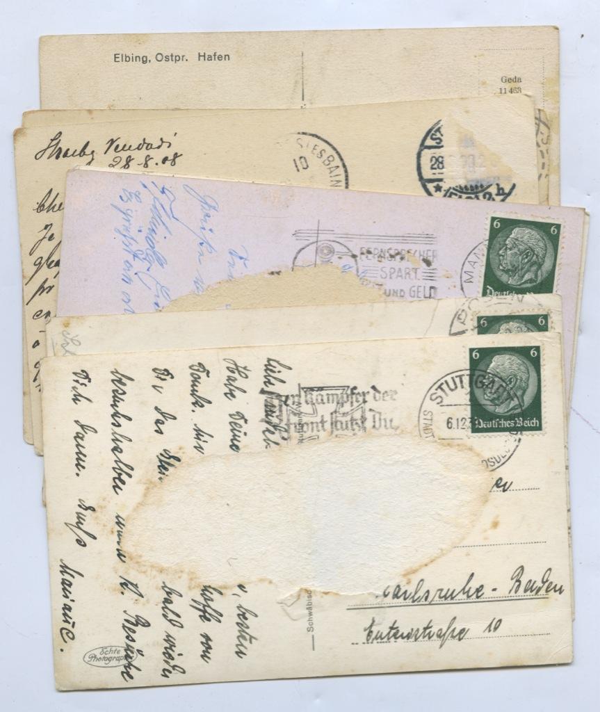Набор почтовых карточек (7 шт. Германия, Франция)