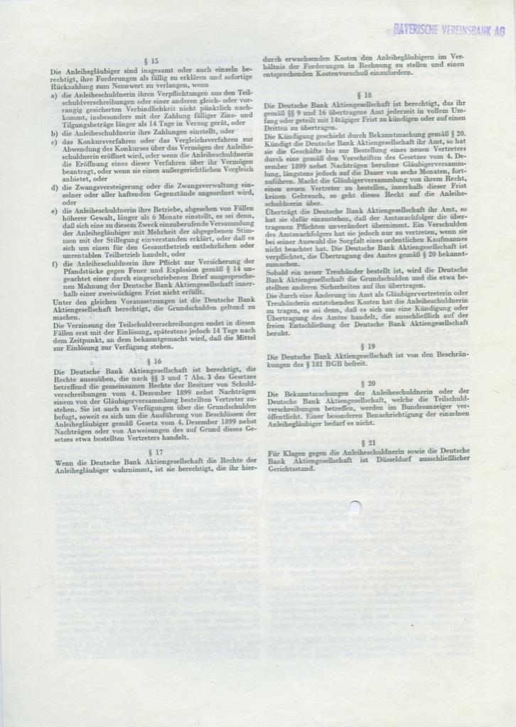 5000 марок (Actien-Gesellschaft der Gerresheimer Glashuttenwerke) 1962 года (Германия)