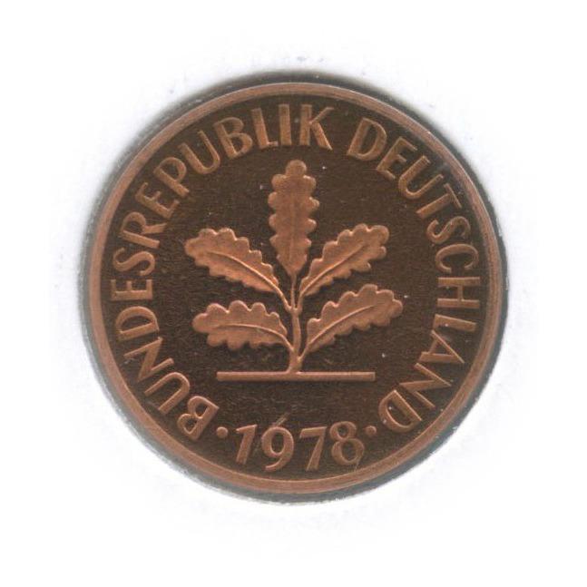 2 пфеннига (вхолдере) 1978 года G (Германия)
