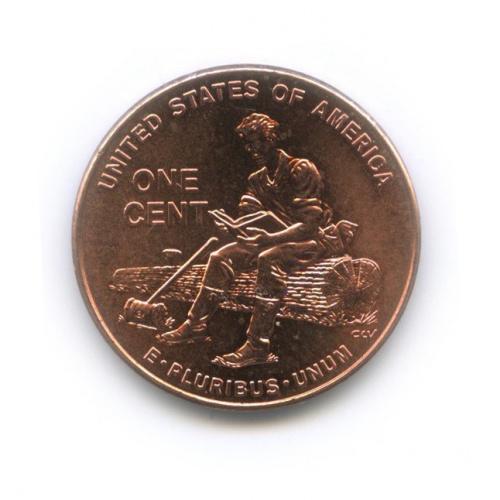 1 цент— Юность вИндиане. 200 лет содня рождения Авраама Линкольна. 2009 года (США)