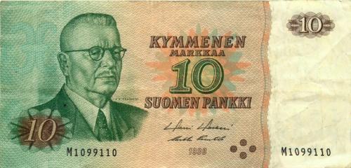 10 марок 1980 года (Финляндия)