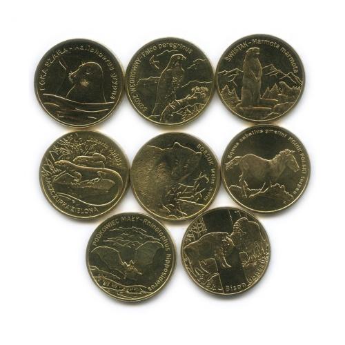 Набор монет 2 злотых— Всемирная природа 2006-2014 (Польша)