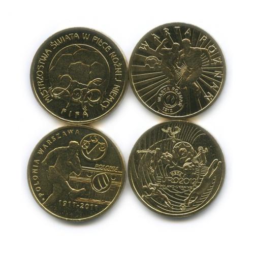 Набор монет 2 злотых— Футбол (Польша)