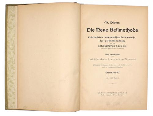 Книга «Platen Die Neue Heilmethode», силлюстрациями, 22,5×17×5,5см