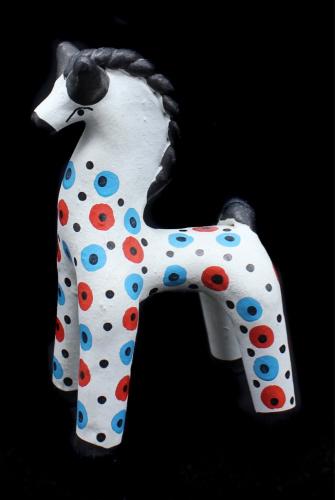 Дымковская игрушка «Лошадь», 15см