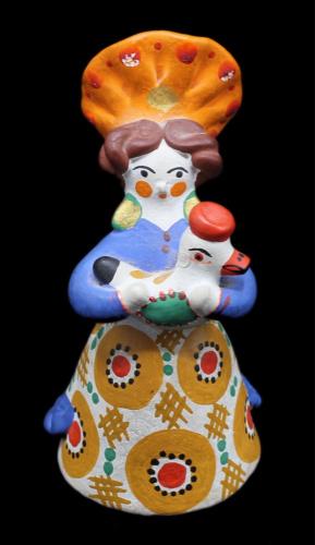 Дымковская игрушка (статуэтка) «Девушка», 13см