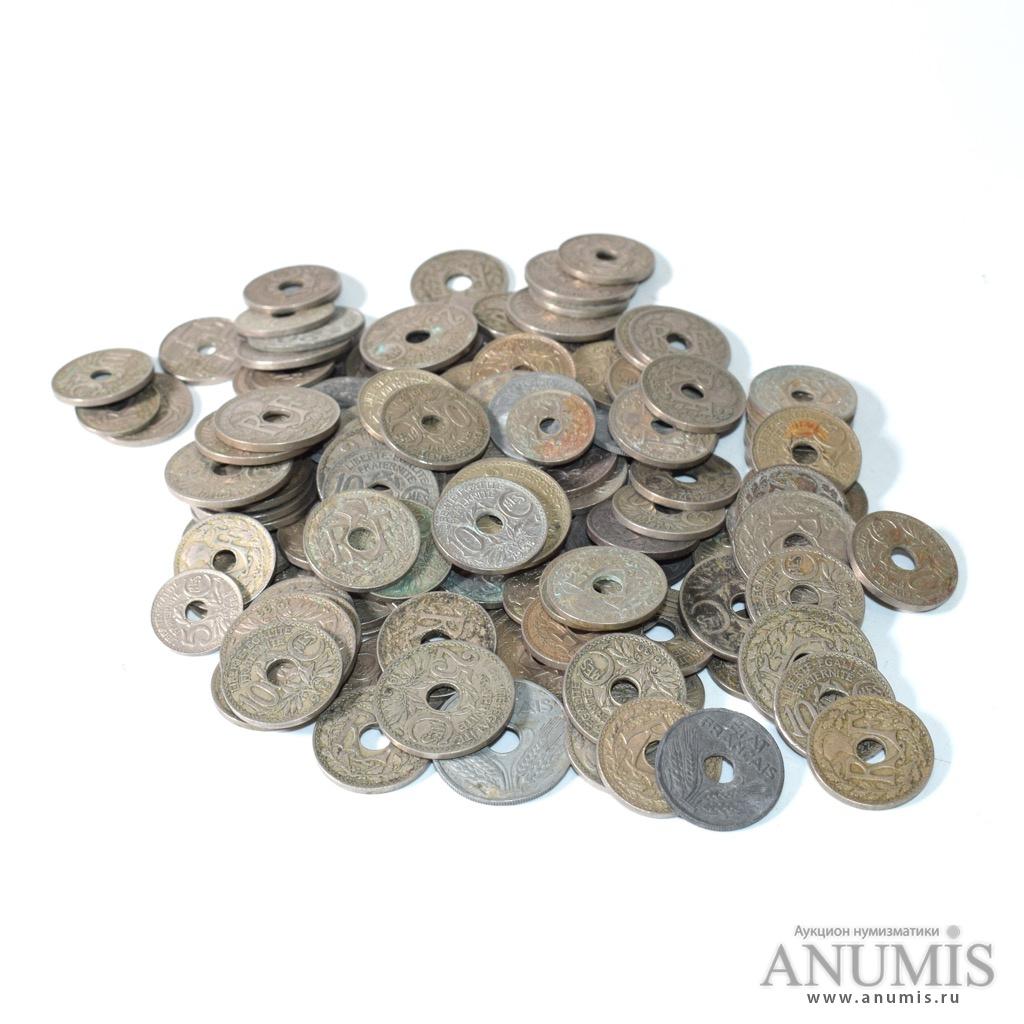 Лот монет, 129 шт, 500г 1920-1940-